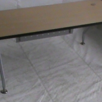 Beech  wood straight desk