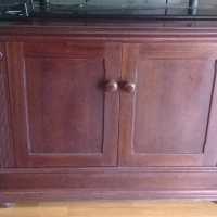 TV stand/cabinet - Solid Mahogany
