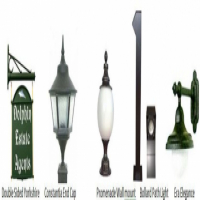Garden Lights and Cottage style Signs, Individually priced