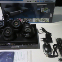CCTV KGUARD 4Ch Standalone DVD (UNUSED) with 4 Dome cameras