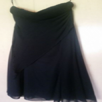 Stunning black strapless dress with angled fabric size 16