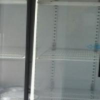 slidding double door dispaly fridge