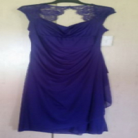 Stunning purple dress with lace over shoulders - size xl for sale  Boksburg