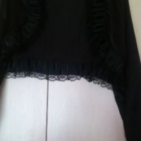 Black Elegant Jacket for over evening dress - size 16