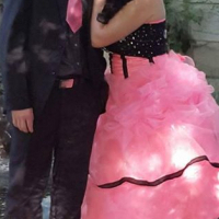 1 x pink and black matric farewell dress size 12