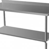 Stainless Steel Table CC1.8SB  1.8m Splash-Back