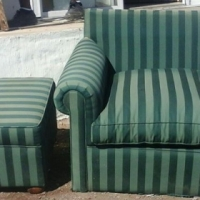 1 seater and foot stool reduction in price.