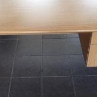 Oak melamine study desk