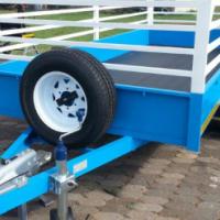 DURA: Cargo solid side trailer; Double axle Cargo trailer, New cargo solid side trailers
