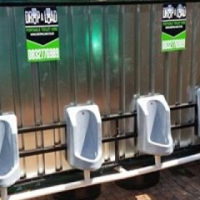 Mens Urinal portable toilets, Trailer toilets for rent and Hire.