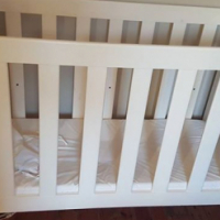 White Cot with Bumper for sale.