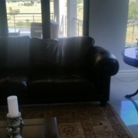2 x 3 seater leather couches for Sale