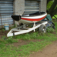 Rowing Boat on Home Built Trailer