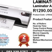 LAMINATING MACHINES AND POUCHES - A3 AND A4 AVAILABLE