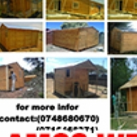 Wendy houses and log cabin, knotty pine, louvre & Pallet