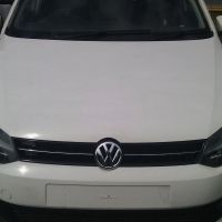 A Vw polo 6 sunroof,2014 model, 12000km, white in color, factory a/c, c/d player, central locking, p