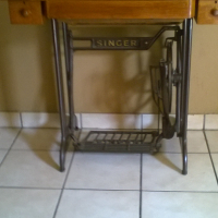 singer cast iron base table