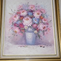 Flower pot painting for sale in excellent condition