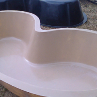 Pool recliner & fish pond for sale