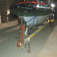 Malibu Bass Boat with 40 hp Yamaha 2 stroke out board- Buoyancy certified-Trailer.Boating extras