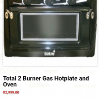 Totai 2 Burner Gas Hotplate & Oven