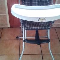 Feeding Chair Blue and White