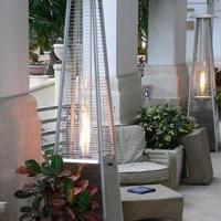 Patio Pyramid gas heater, dancing flame patio heater