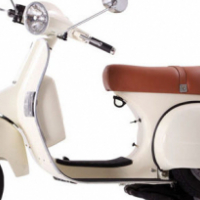 A brand new Ice White Vespa/ Piaggio licenced 150cc LML
