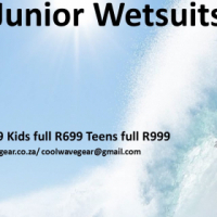 Wetsuits - 3mm Neoprene Junior sizes
