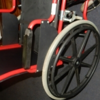 Steel and Canvas Wheelchair