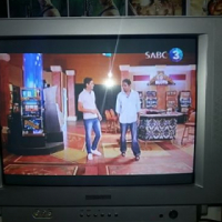 54 CM colour TV with remote