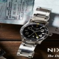 Nixon Diplomat Stainless Steel Watch in Black