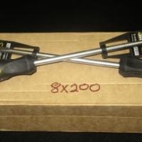 WEBCO 8 x 200mm Flathead Dimple Grip Rubber Handle