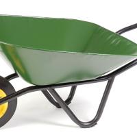 Wheelbarrow and other garden equipment