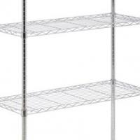 Shelving unit chromed - 4 Tier - 1510 x 455 x 1830mm Global