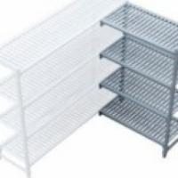 Plastic corner shelve unit - 1220 x 530 x 1800mm Global