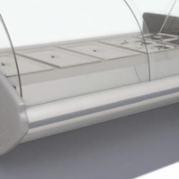 Baine Marie Curved Glass 2.5M  Arctica Catering Equipment