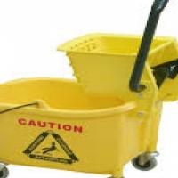 Plastic Bucket & Wringer - Yellow