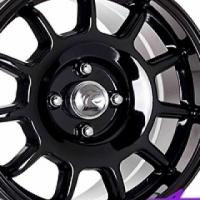 """15"""" A-Line Devon Black 4/100 Alloy Wheels"""