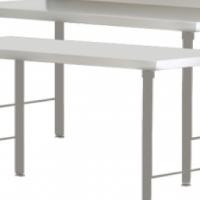Stainless Steel Table - Splash back 2.3m