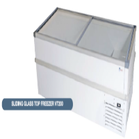 Freezer with glass slide tops 2.5M Arctica Catering Equipment
