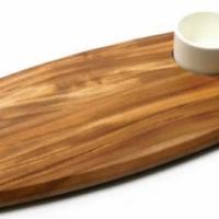 Serving board with dip bowl (70ml Bowl) 225 x 362 x 20mm Infiniti