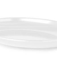 Platter Oval 406 x 305mm White Carlisle