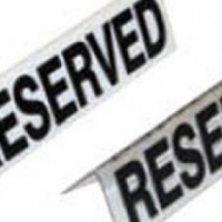 Reserved table sign - Plastic - White