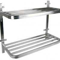 Pot rack S/Steel - Double wall mounted 900 x 400 x 760mm Global