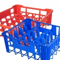 Glass crate large - 30 glasses - Blue 475 x 400 x 205mm Global