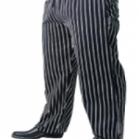Chefs Uniform – Baggies Black Pin Stripe – X – Small