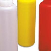 red plastic dispenser