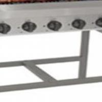 Gas griller 6 burner radiant free standing 750 x 470mm Anvil