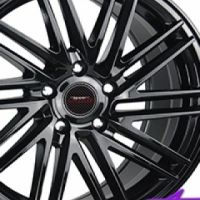 """17"""" A-Line Zone 5/100 BLK Alloy Wheels"""